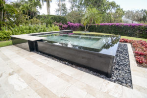 oversized spas with infinity edge by apex pavers and pools