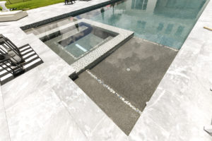 dark interior pool colors by apex pavers and pools